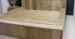 Bed steigerhout zelf maken.