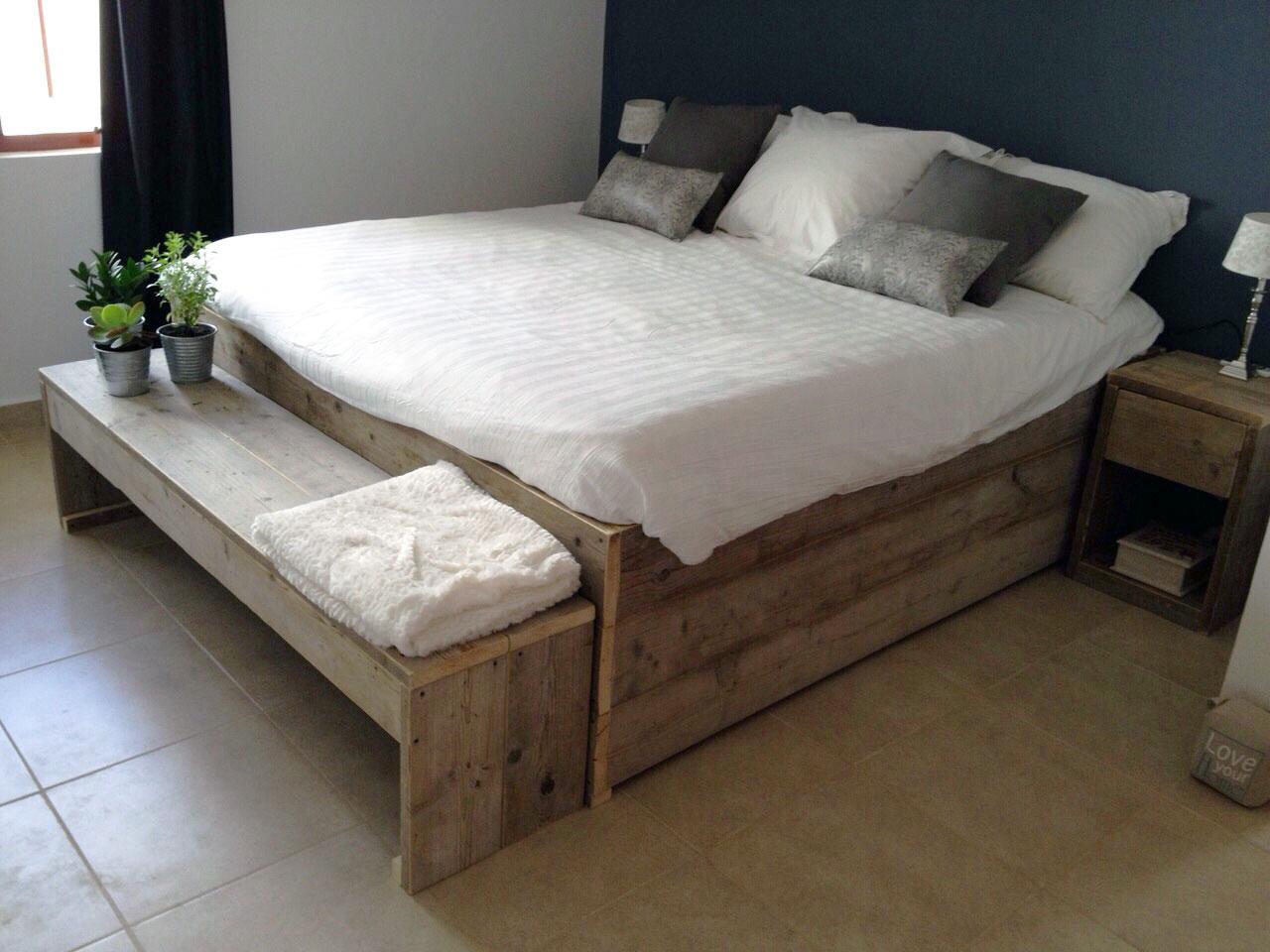Bouwtekening bed.