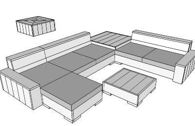 Loungeset maken van steigerhout.