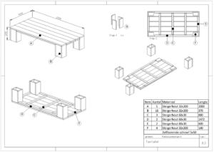 Tekeningen meubels.