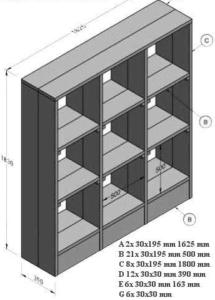 boekenkast steigerhout zelf maken