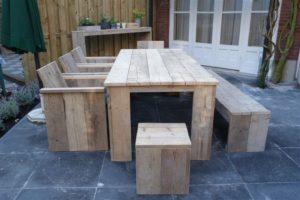 tuintafel steigerhout bouwpakket nodig hier zijn