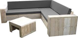 Steigerhout loungebank zelf maken.