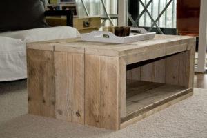 Bouwtekening steigerhout salontafel.