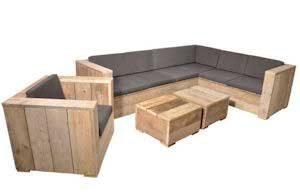 Loungeset steigerhout.