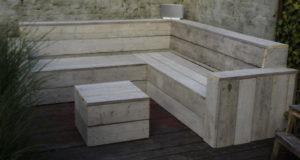 Steigerhouten meubels.