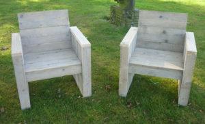 Steigerhouten stoel maken.