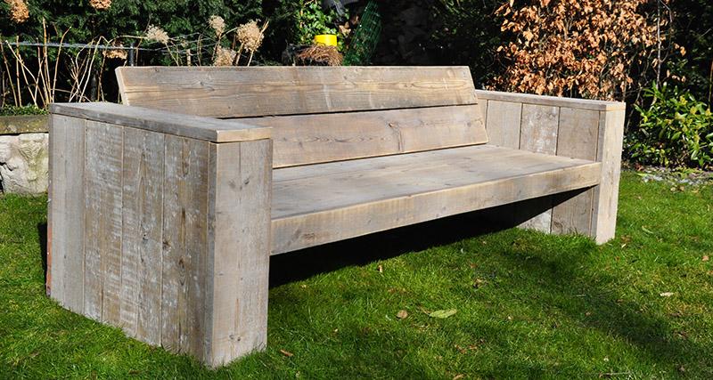 loungebank van steigerhout zelf maken.