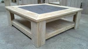 Salontafel van steigerhout maken.