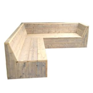 Steigerhout zithoek maken.