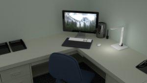 Zelf bureau maken.