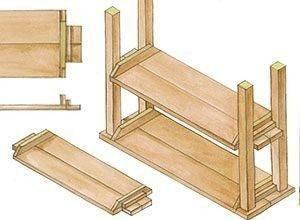 Doe het zelf bouwtekeningsteigerhout